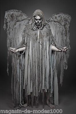 Todesengel- Angel of Death- Komplettset Herren Männer  - Herr Tod Halloween Kostüm