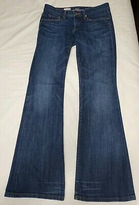 Gap Long Jeans - GAP 1969 Womens Curvy Flare Jeans Distressed Size 28/6 Long Inseam 33