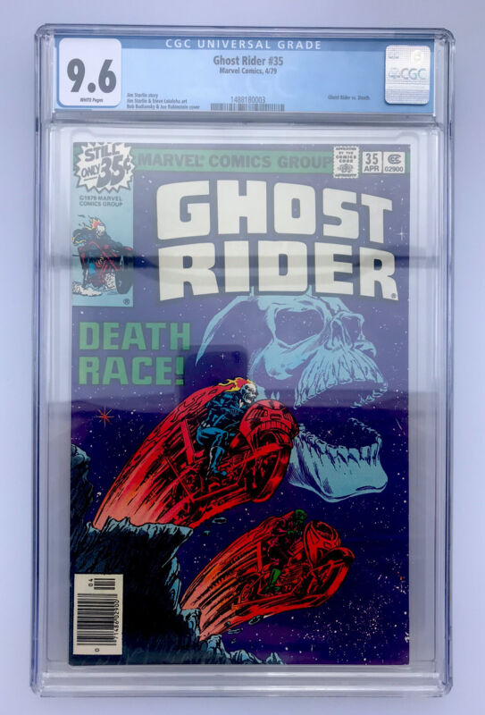 GHOST RIDER # 35 CGC 9.6 (June 1979) White Pages!  MARVEL