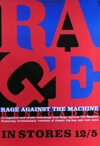 Rage Against The Machine 2000 Renegades Original Promo Poster II