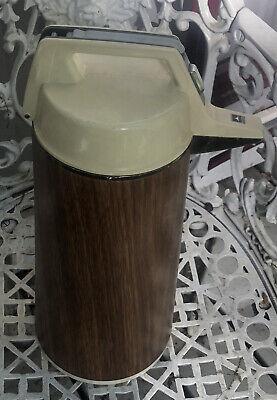 Everest Airpot 1.9l Hot Cold Coffee Tea Dispenser Wood Grain Pattern Japan