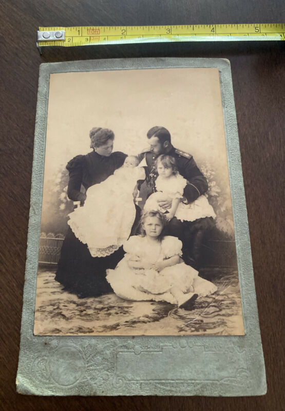 Original Rare Antique Russian Photograph Tsar Nicholas ll Family Romanov.