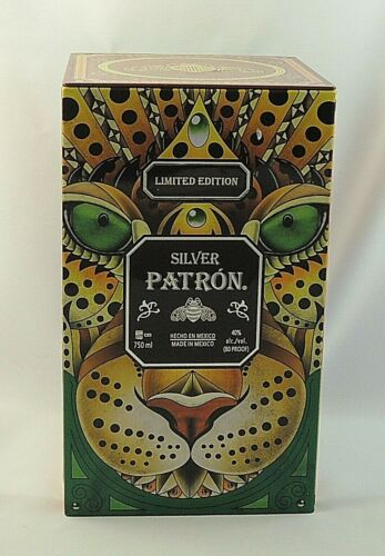 2017 Silver PATRON Tequila Limited Edition Empty Collector Tin Box Mayan Animals