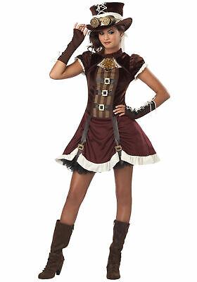 Steampunk Girl Tween Girls Costume Size L(10-12) (E)](Tween Steampunk Costume)
