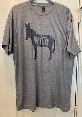 Wild A$$ Graphic T Shirt Western XL Heather Gray Donkey Southwest Unisex