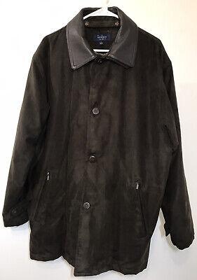 Turnbury Microsuede Jacket Removable Wool Liner Leather Collar Coat Men's Large Lined Microsuede Jacket