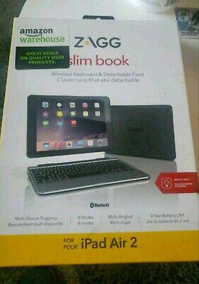 ZAGG iPad Air 2 Slim Book Case w/ Hinged Detachable Bluetooth Keyboard