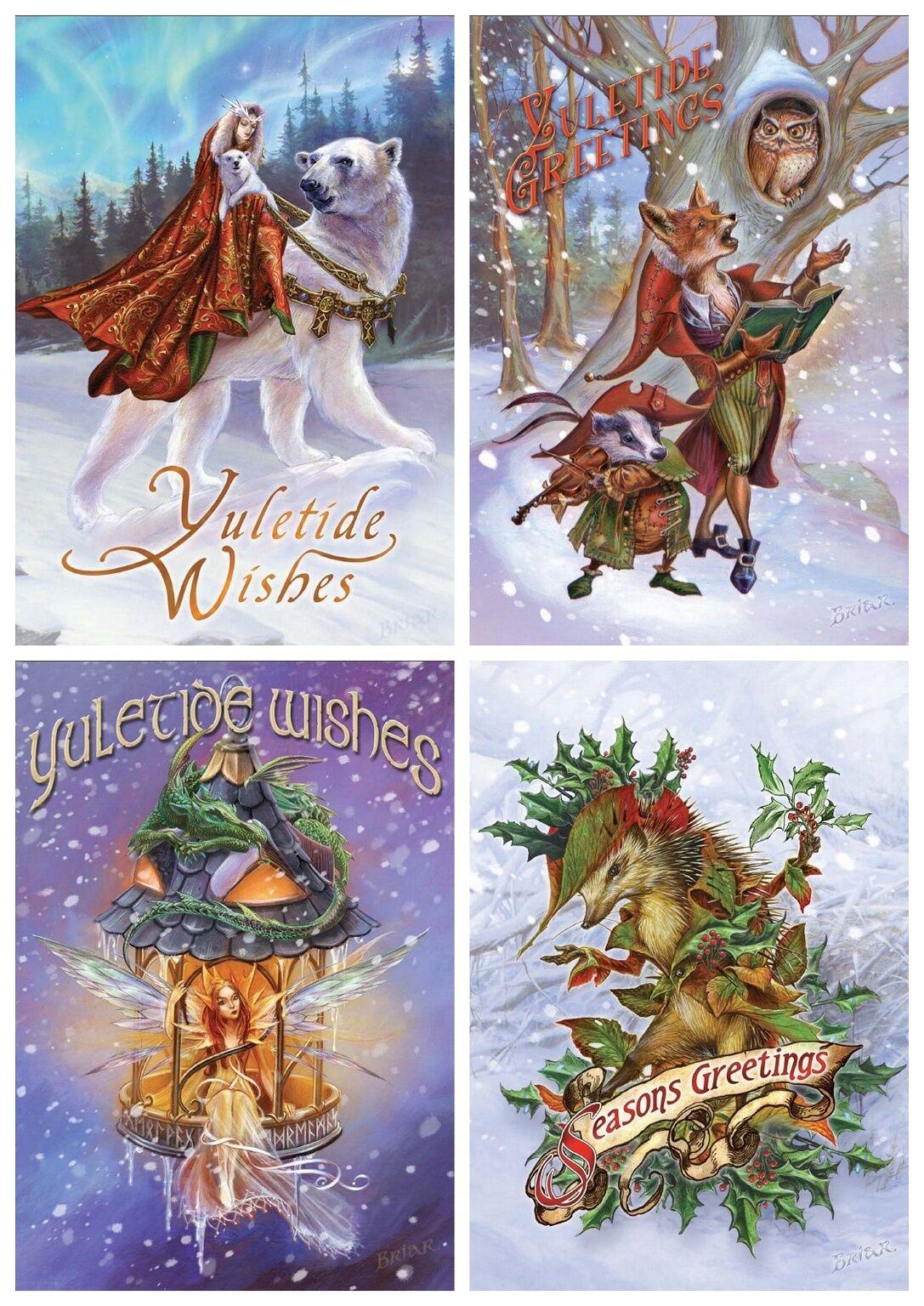 Briar Yule Midwinter Solstice Greeting Card Alternative Christmas