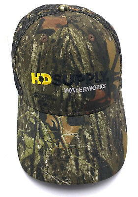 Hd Supply Waterworks Camouflage Adjustable Cap   Hat