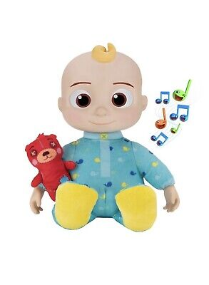 CoComelon Plush Musical Bedtime JJ Doll & Teddy BEAR YouTube Sings! SHIPS NOW!
