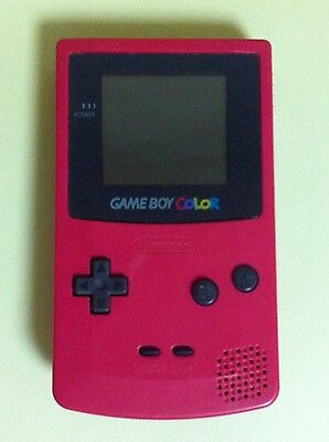 RED Color Gameboy Color System Console Japan USED