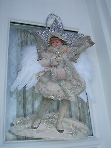 VICTORIAN ANGEL OF CHRISTMAS CHEER ISABELLA LARGE DAZZLING ORNAMENT