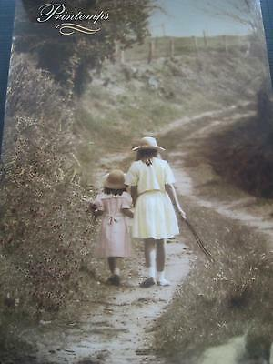 1982 Printemps Athena Children Straw Hats Country Vintage Poster Rolled Pbx1673