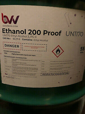 Ethanol Non-denatured Alcohol 200 Proof Food Grade 100 Extraction 1 Gallon