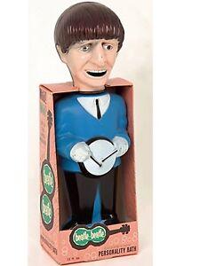 The Beatles Soaky BOX bubble bath Colgate-Palmalove Paul /Ringo figures DISPLAY