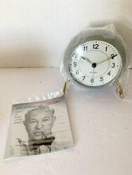 Arne Jacobsen Station Table Clock with Alarm Gray NIB