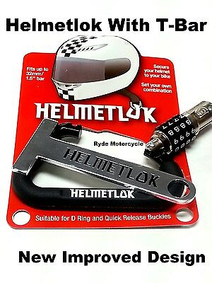 Newest Helmetlok Combo Helmet Lock w T Bar Locks All Helmets to Any Motorcycle