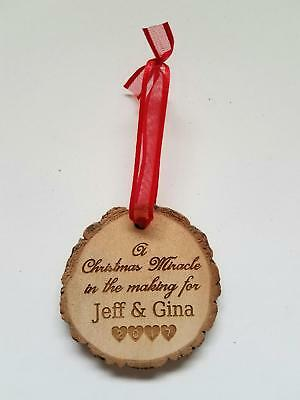 Personalized Expecting Parents A Christmas Miracle in the making for Ornament