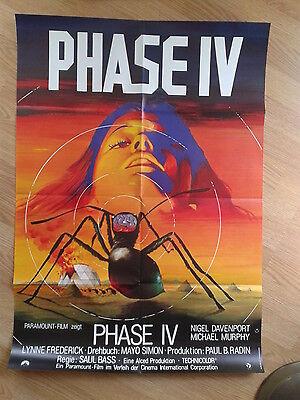 PHASE IV Din A1 Plakat Lutz Peltzer SAUL BASS SCI-FI Klassiker PHASE 4