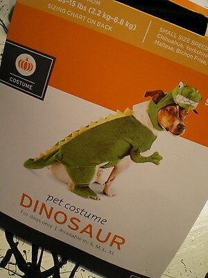Dog DINOSAUR COSTUME S NEW Pet 2pc Headpiece & Suit SMALL Dino Plush Head](Dino Dog Costume)