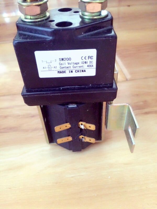 Albright Style SW180 Solenoid / Contactor 200amp w/ Mounting Bracket 24V generic