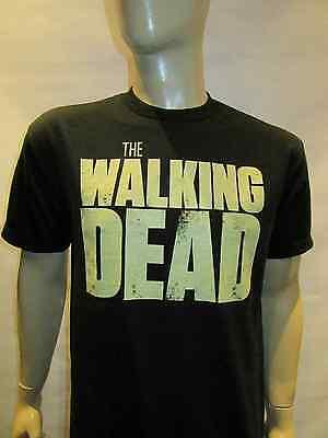 The Walking Dead Logo Black T shirt Zombies Fan Tee Tv Show  Daryl , Rick , Carl ()