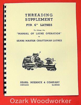 Atlascraftsman 6 Metal Lathe Threading Operations Manual 0052