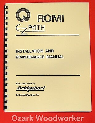Bridgeport Romi Ez-path 16.5 Metal Lathe Instructions Manual 0076