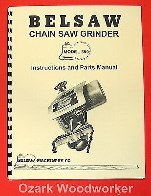 Belsaw Foley 550 Saw Chain Grinder Operator Parts Manual 0778