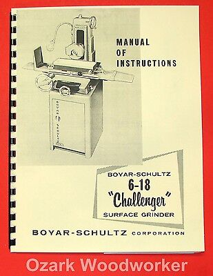 Instruct Parts and Wiring Schematics Manual 1964 Surface grinder Reid 618H
