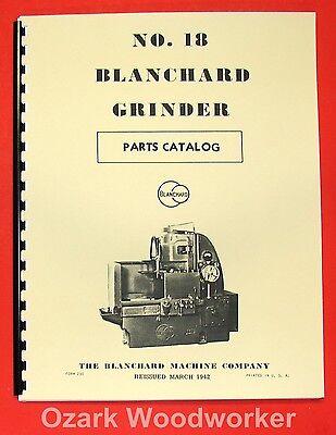 Blanchard 18 Surface Grinder Parts Manual 0784