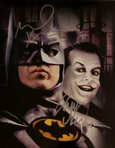Michael Keaton / Jack Nicholson Autographed Signed 8x10 Photo ( Batman ) Reprint