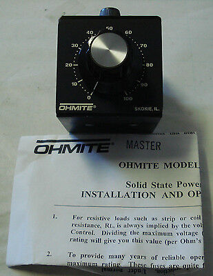 OHMITE SCE12-15 SOLID STATE POWER CONTROL 120VAC 15A,STD 50/60HZ,1PH 181180