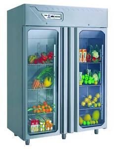 Desmon Dual Temp Fridge Freezer - Glass Doors - GMB14