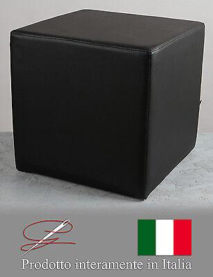 POUF POUFF PUFF PUF CUBO ARREDAMENTO ECO-PELLE POGGIAPIEDI DESIGN MADE IN ITALY