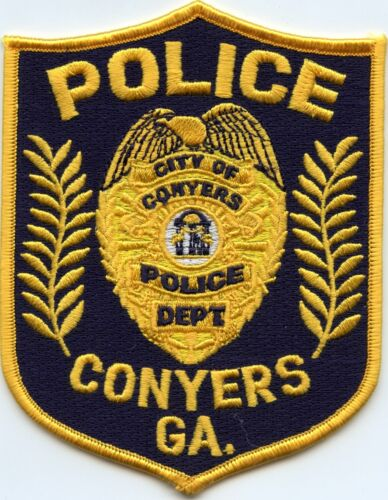 old style CONYERS GEORGIA GA POLICE PATCH