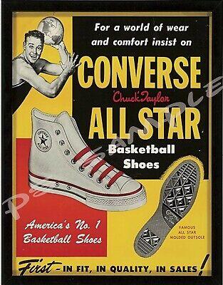 e1c2047f0a2e Flexible Fridge MAGNET Vintage Ad - CONVERSE ALL STAR BASKETBALL SHOES