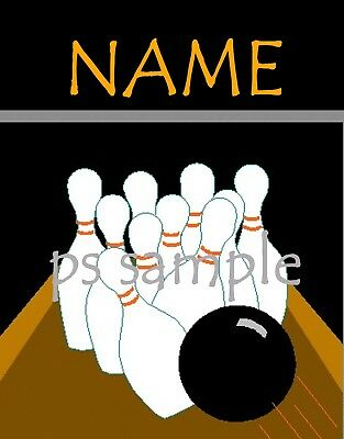 BOWLING - Flexible Fridge Magnet - PERSONALIZED FOR FREE (Personalized Refrigerator Magnets)
