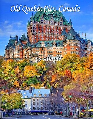 Canada   Old Quebec City  Day    Travel Souvenir Flexible Fridge Magnet