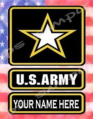 US ARMY -  Flexible Fridge Magnet - PERSONALIZED for free (Personalized Refrigerator Magnets)
