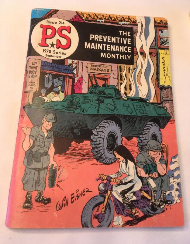 VIETNAM WAR 1970 ARMY COMIC BOOK WILL EISNER ARTWORK PREVENTATIVE MAINTENANCE