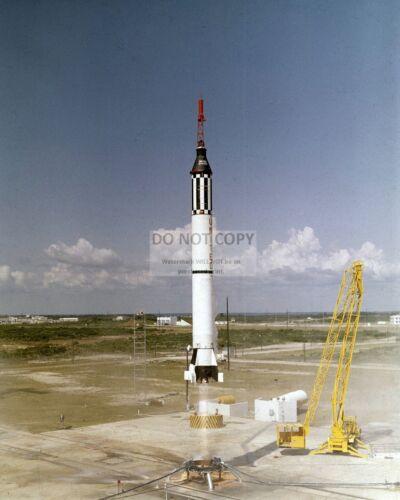ALAN SHEPARD MERCURY ASTRONAUT LIFTS OFF IN FREEDOM 7 - 8X10 NASA PHOTO (AA-740)