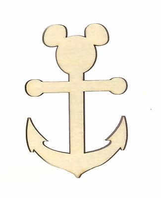 Mickey Anchor Unfinished Wood Shape Cut Out M11362 Crafts Lindahl Woodcrafts