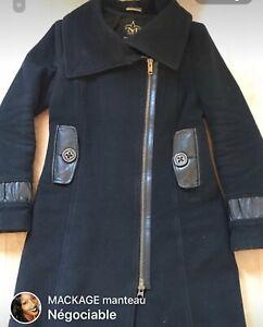 Manteau Mackage 100 laine et avec cuir