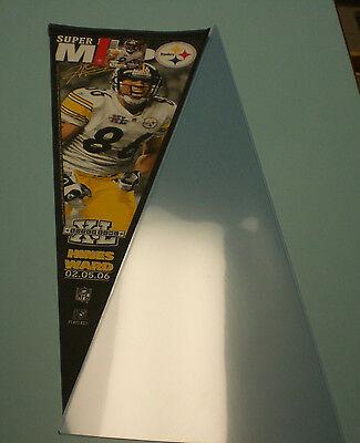 Steelers Hines Ward 2006 Super Bowl Xl Mvp Pennant   New