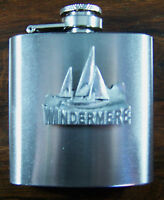 Windermere Boats 3oz Stainless Hip Flask Free Uk Post Lake District Tourism -  - ebay.co.uk