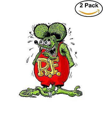 Rat Fink Hot Rod Vinyl Sticker Diecut 2 Stickers