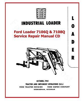 Ford Loader 7106q 7108q Service Repair Manual Cd Service Parts
