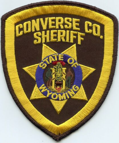 CONVERSE COUNTY WYOMING WY SHERIFF POLICE PATCH