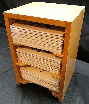 Montessori three shelf leaf cabinet with 42 wooden cards, Kido, new